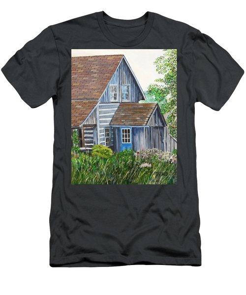 Blue Door Men's T-Shirt (Slim Fit) by Marilyn  McNish