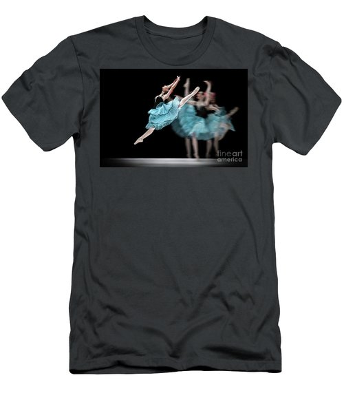 Men's T-Shirt (Athletic Fit) featuring the photograph Blue Dress Dance by Dimitar Hristov