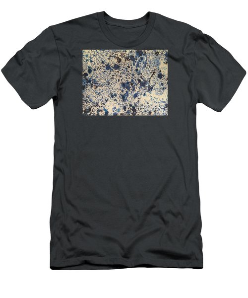 Men's T-Shirt (Athletic Fit) featuring the painting Blue Ecru by Denise Tomasura