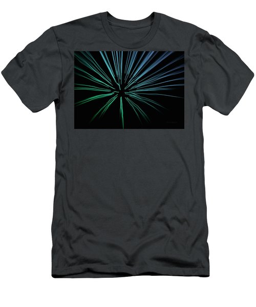 Men's T-Shirt (Slim Fit) featuring the photograph Blue Firework by Chris Berry