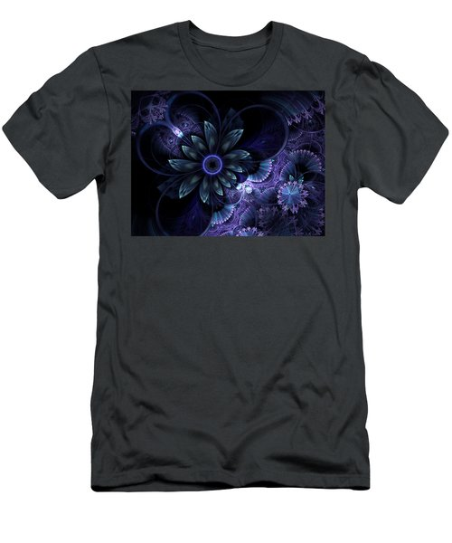 Blue Fleur And Lace Men's T-Shirt (Athletic Fit)