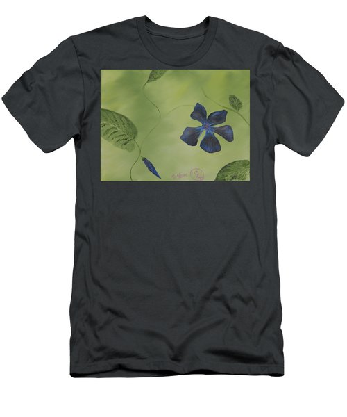 Blue Flower On A Vine Men's T-Shirt (Athletic Fit)
