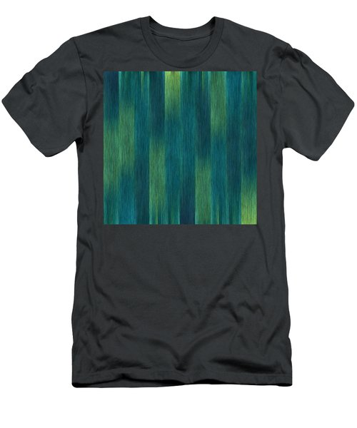Men's T-Shirt (Slim Fit) featuring the photograph Blue Green Abstract 1 by Terri Harper