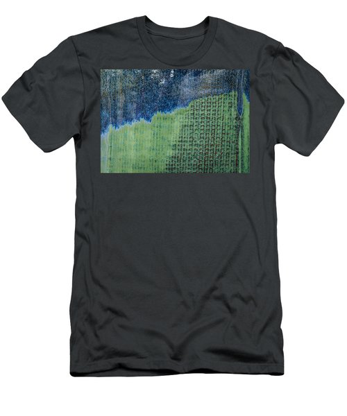 Men's T-Shirt (Athletic Fit) featuring the photograph Blue/green Abstract Two by David Waldrop