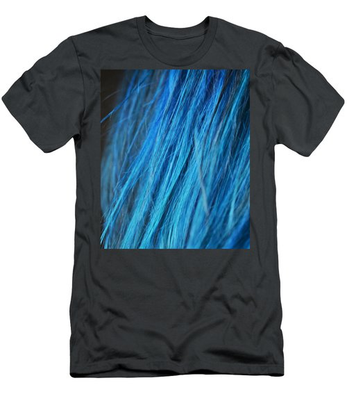 Men's T-Shirt (Athletic Fit) featuring the photograph Blue Hair by Marianna Mills