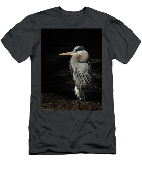 Blue Heron Gaze Men's T-Shirt (Athletic Fit)