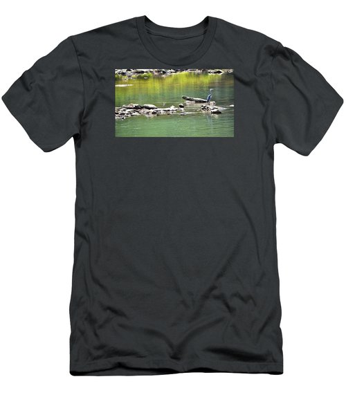 Blue Heron On The Chattahoochie Men's T-Shirt (Athletic Fit)