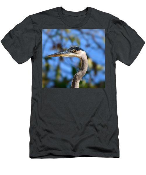 Blue Heron Profile Men's T-Shirt (Athletic Fit)