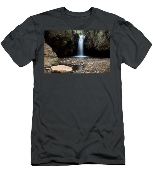 Men's T-Shirt (Slim Fit) featuring the photograph Blue Hole In Spring #2 by Jeff Severson