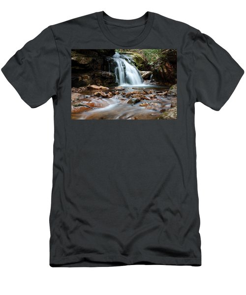 Men's T-Shirt (Slim Fit) featuring the photograph Blue Hole In Spring #3 by Jeff Severson