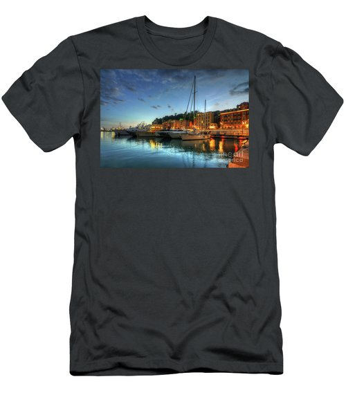 Men's T-Shirt (Slim Fit) featuring the photograph Blue Hour At Port Nice 2.0 by Yhun Suarez