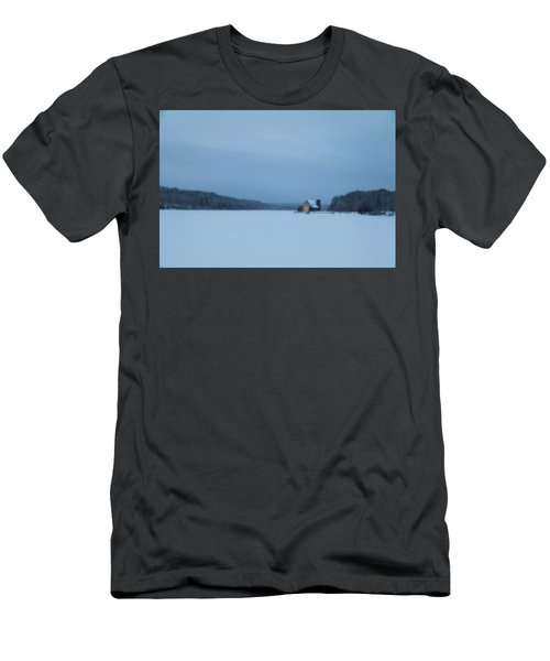 Blue Hour At The Old Stone Church Men's T-Shirt (Athletic Fit)