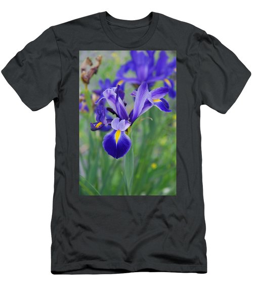 Blue Iris Flower Men's T-Shirt (Athletic Fit)