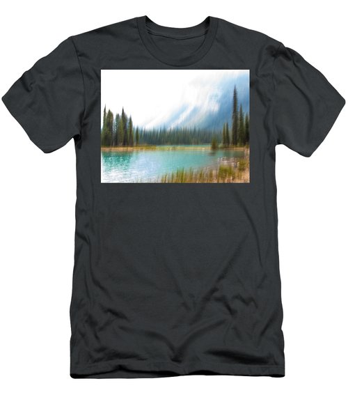 Blue Lake Men's T-Shirt (Slim Fit) by Catherine Alfidi