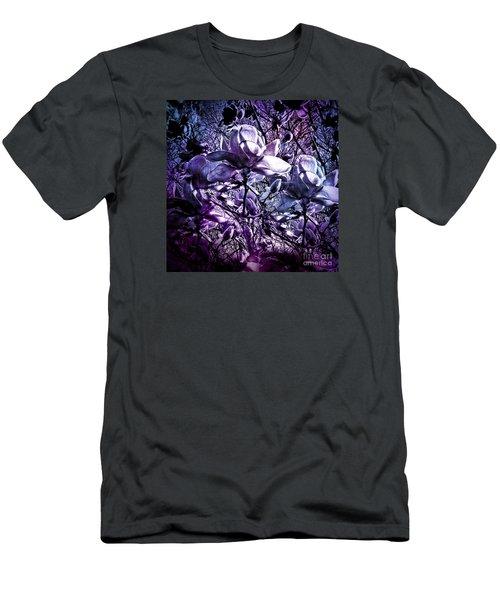 Blue Magnolias Men's T-Shirt (Slim Fit) by Karen Lewis