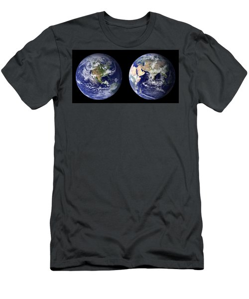 Blue Marble Men's T-Shirt (Athletic Fit)