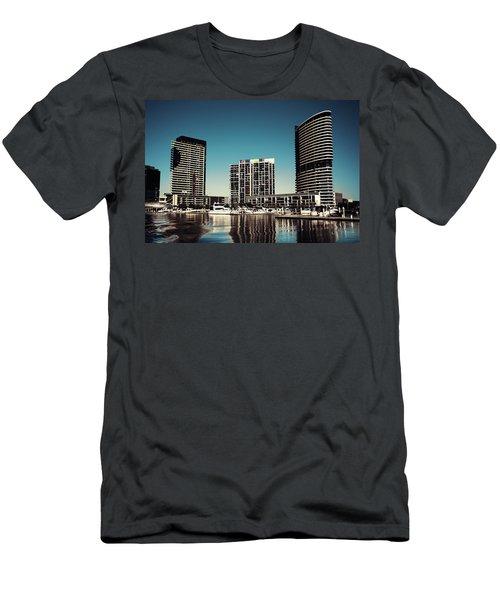 Blue Melbourne Men's T-Shirt (Athletic Fit)