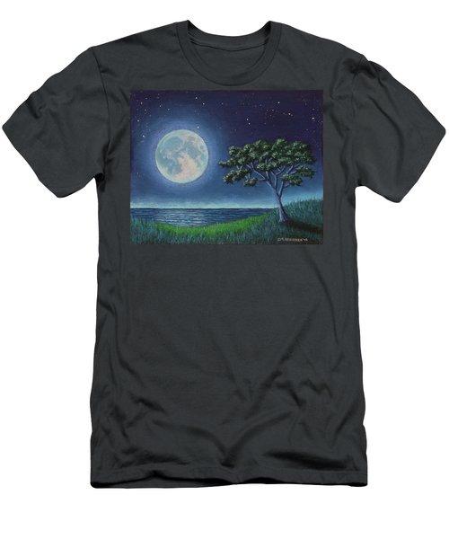 Blue Moon 01 Men's T-Shirt (Athletic Fit)