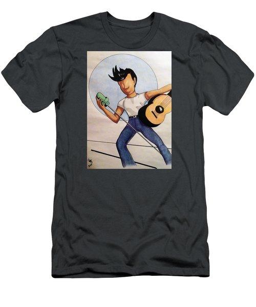 Blue Moon Men's T-Shirt (Slim Fit) by Loretta Nash