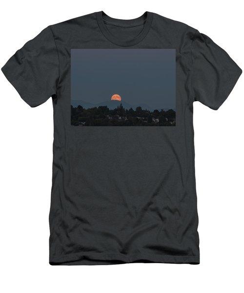 Men's T-Shirt (Slim Fit) featuring the photograph Blue Moon.1 by E Faithe Lester