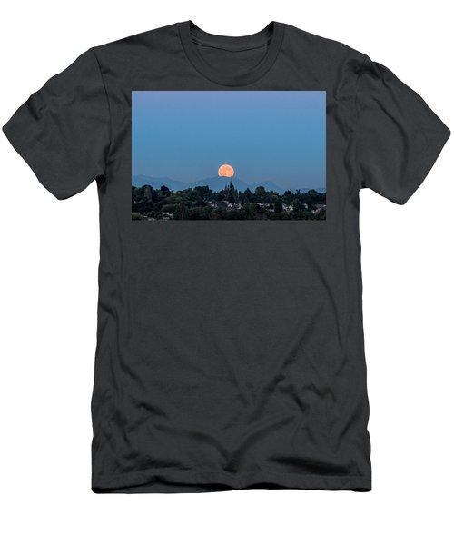 Men's T-Shirt (Slim Fit) featuring the photograph Blue Moon.2 by E Faithe Lester