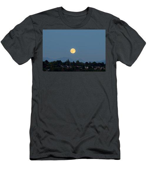 Blue Moon.3 Men's T-Shirt (Slim Fit) by E Faithe Lester