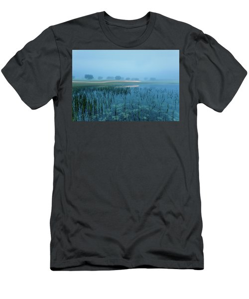 Men's T-Shirt (Slim Fit) featuring the photograph Blue Morning Flash by Jorge Maia