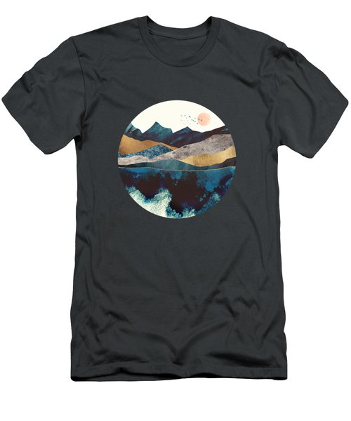 Blue Mountain Reflection Men's T-Shirt (Athletic Fit)