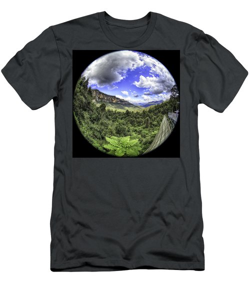 Men's T-Shirt (Athletic Fit) featuring the photograph Blue Mountains Fisheye by Chris Cousins
