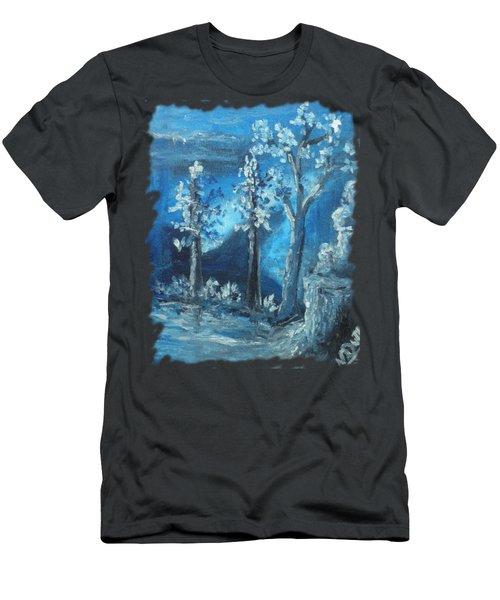 Blue Nature Men's T-Shirt (Athletic Fit)