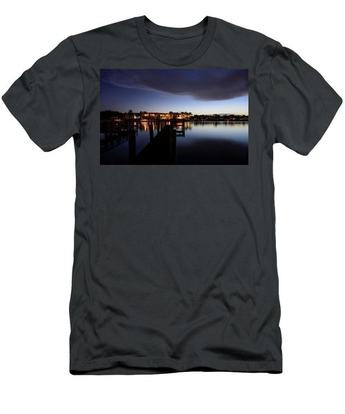 Men's T-Shirt (Athletic Fit) featuring the photograph Blue Night by Laura Fasulo