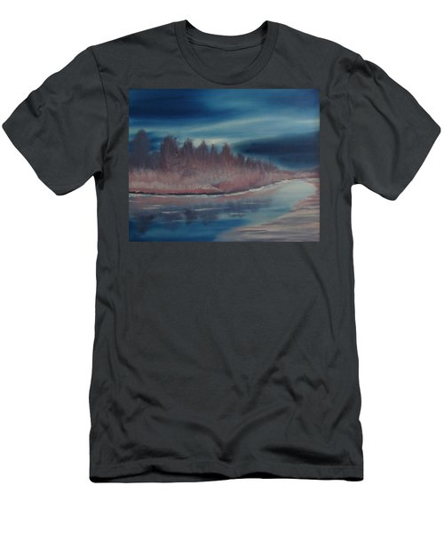 Blue Nightfall Evening Men's T-Shirt (Slim Fit) by Rod Jellison