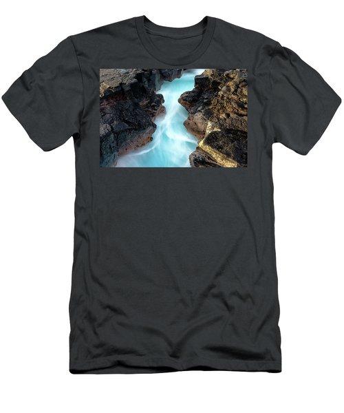 Blue Path Men's T-Shirt (Athletic Fit)