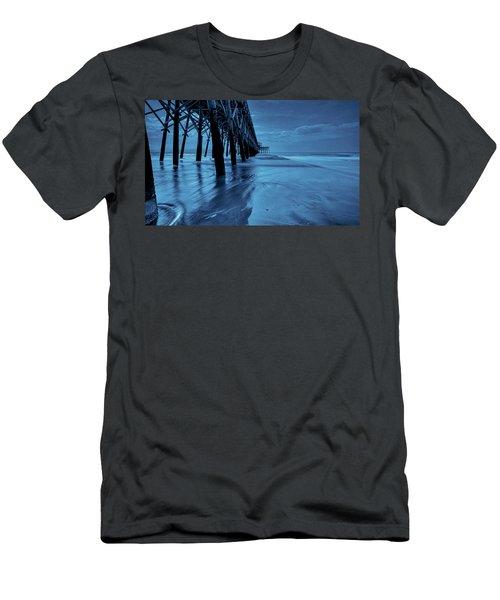 Blue Pier Men's T-Shirt (Slim Fit) by RC Pics