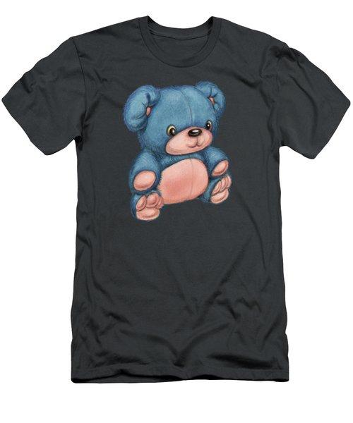 Blue Pink Bear Men's T-Shirt (Athletic Fit)