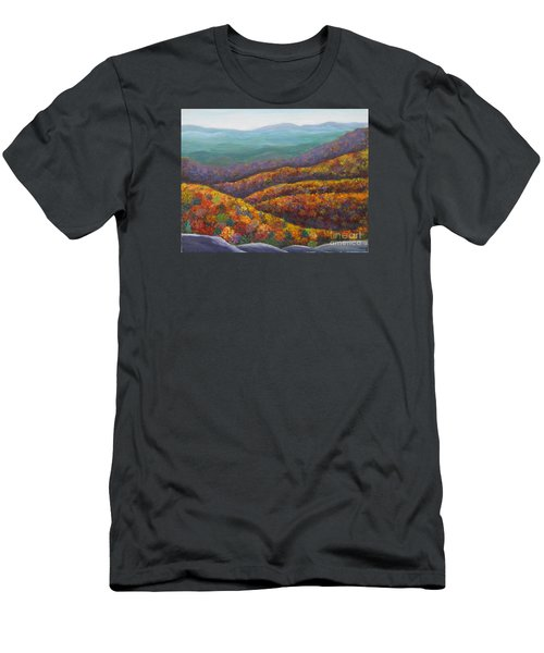 Blue Ridge Colors II			 Men's T-Shirt (Slim Fit) by Anne Marie Brown