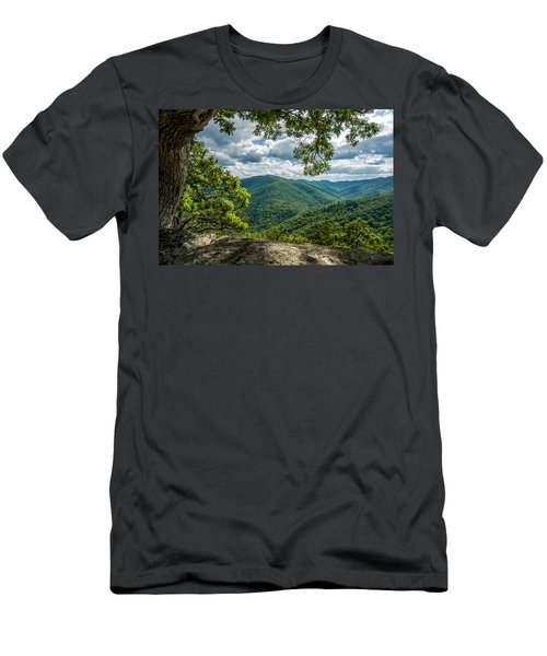 Blue Ridge Mountain View Men's T-Shirt (Athletic Fit)