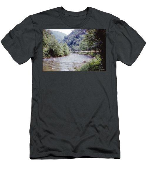 Blue Ridge Mountains 8 Men's T-Shirt (Athletic Fit)