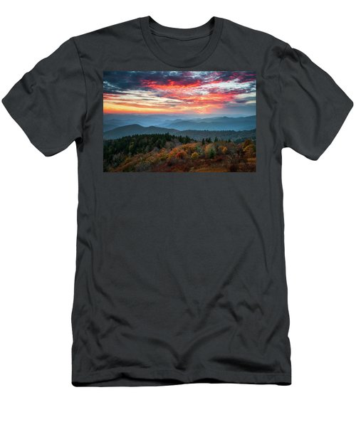 Blue Ridge Parkway Autumn Sunset Scenic Landscape Asheville Nc Men's T-Shirt (Athletic Fit)
