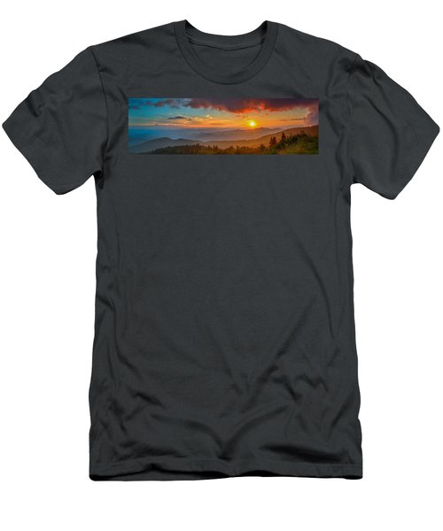 Blue Ridge Sunset Pano Men's T-Shirt (Athletic Fit)