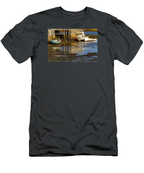 Blue Rocks, Nova Scotia Men's T-Shirt (Slim Fit) by Ken Morris