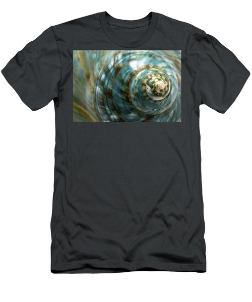 Blue Seashell Men's T-Shirt (Athletic Fit)