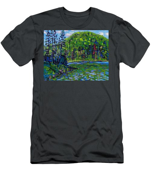 Blue Sky Greens Men's T-Shirt (Athletic Fit)