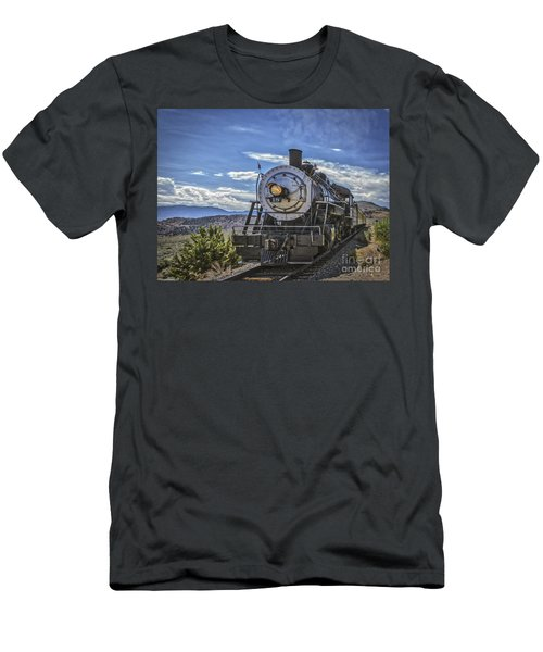 Men's T-Shirt (Slim Fit) featuring the photograph Blue Sky Nevada. by Mitch Shindelbower