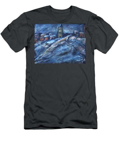 Blue Snow City Men's T-Shirt (Athletic Fit)