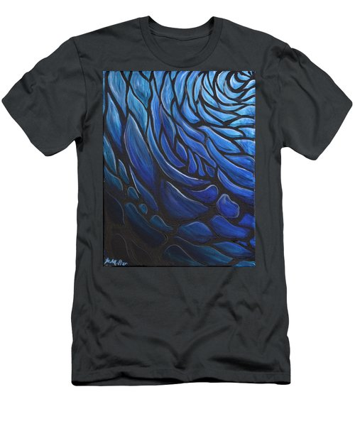 Blue Stained Glass Men's T-Shirt (Athletic Fit)