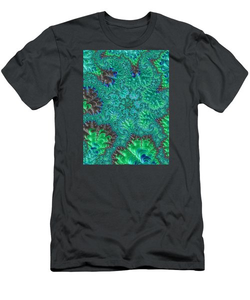 Men's T-Shirt (Slim Fit) featuring the photograph Blue Starfish by Ronda Broatch