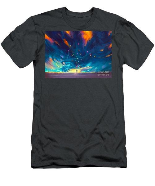 Blue Tornado Men's T-Shirt (Athletic Fit)
