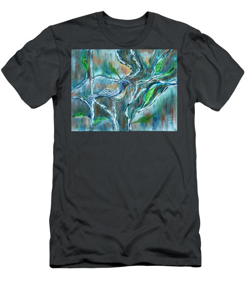 Blue Warbler In Birch Men's T-Shirt (Athletic Fit)