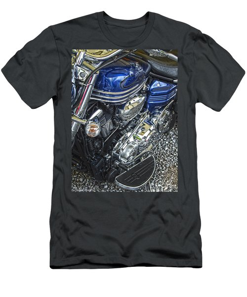 Blue Warrior Hdr Men's T-Shirt (Athletic Fit)